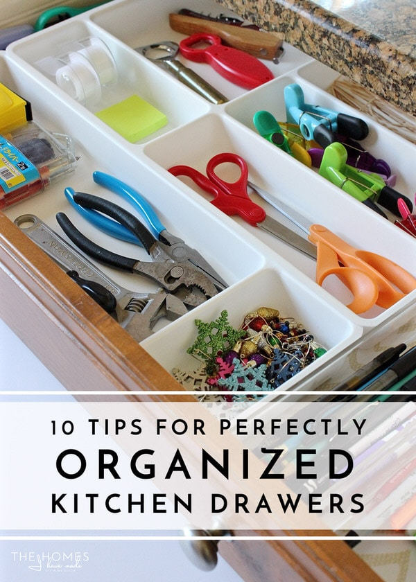 tips perfectly organized kitchen drawers homes organized kitchen simply lkj