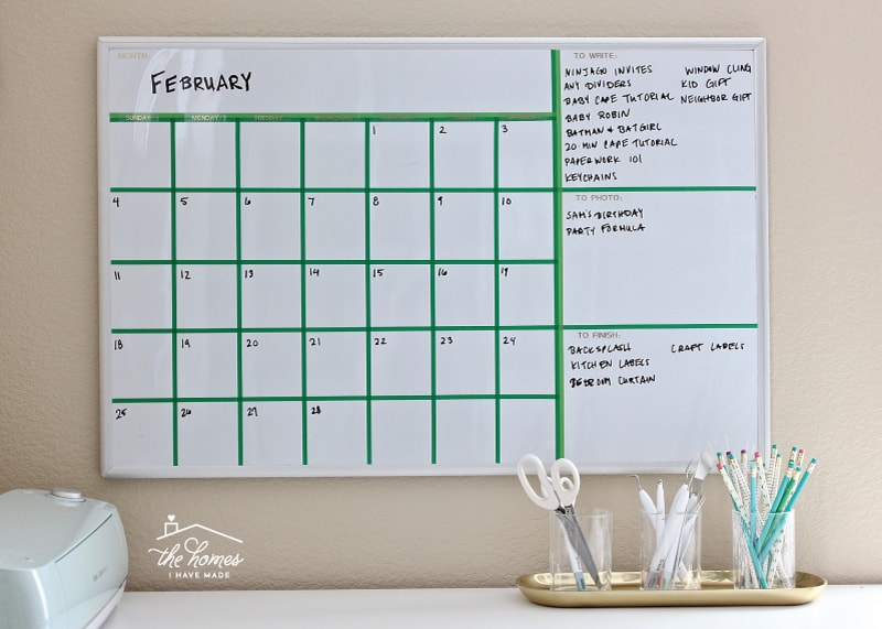 Create Your Own Dry-Erase Calendar with Washi Tape The Homes I