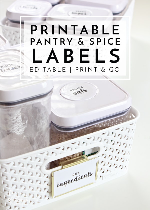 New to The Organization Toolbox Editable and Printable Pantry