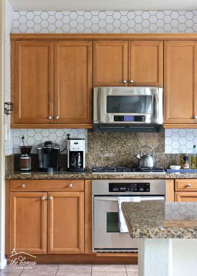 How to Wallpaper a Backsplash | The Homes I Have Made