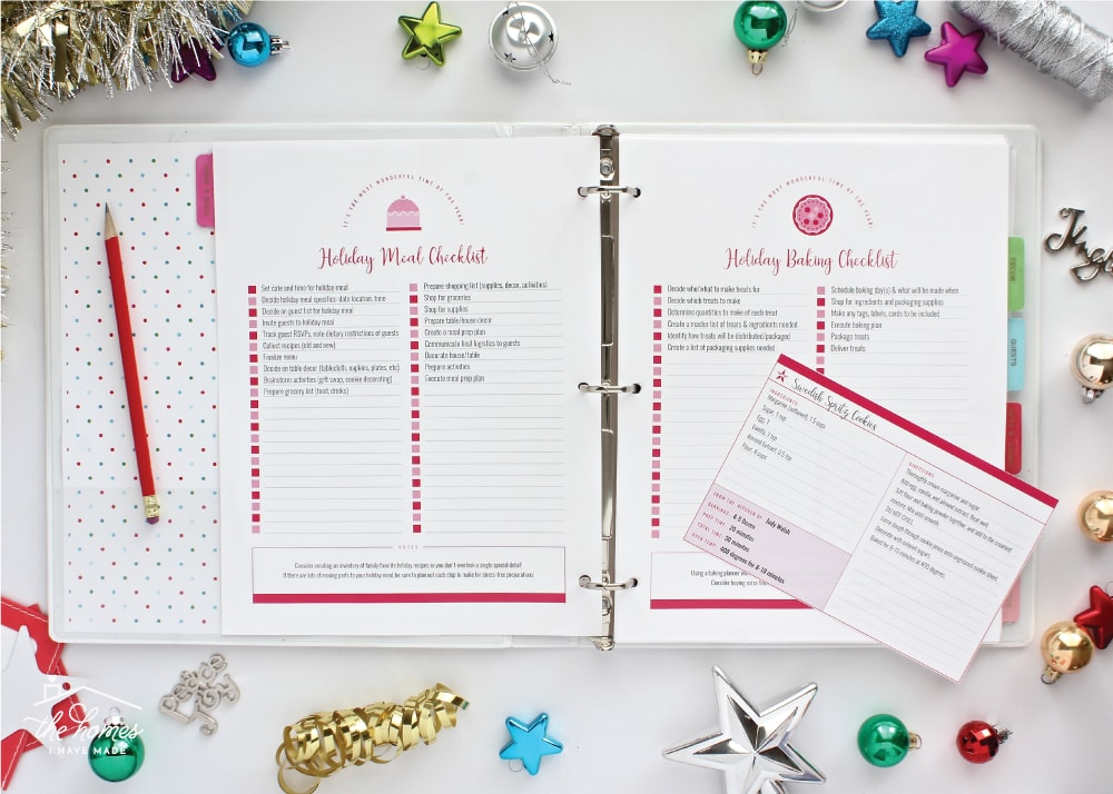 New to The Organization Toolbox Printable Holiday Planner The