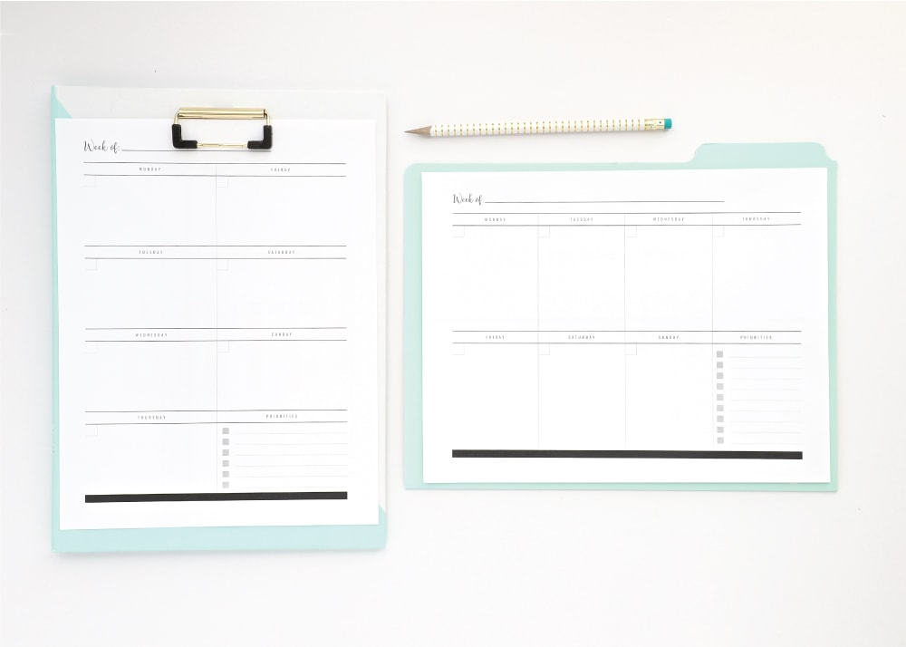 New to The Organization Toolbox Printable Planner Pages The Homes