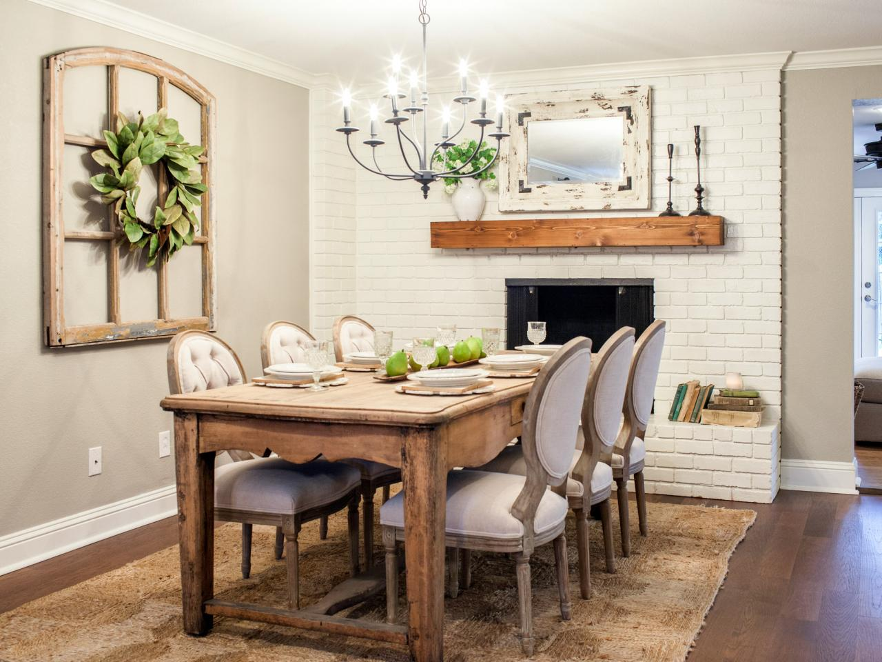 Joanna Gaines Farmhouse Dining Room Room From Fixer Upper