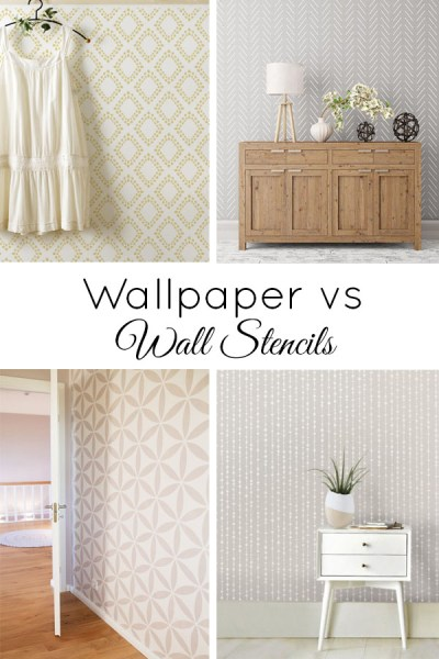Wall Stencils vs Wallpaper (and a Giveaway!)