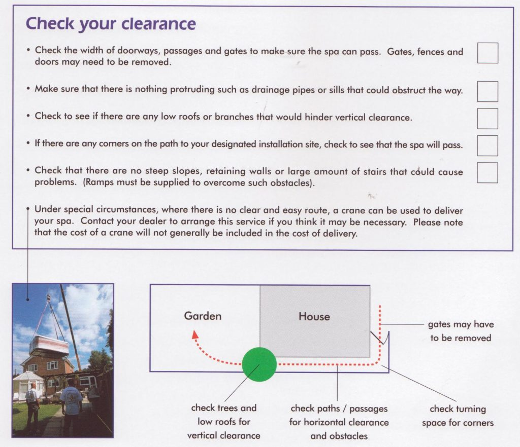 Hot Tub Pre Delivery Installation Guide The Hot Tub Company