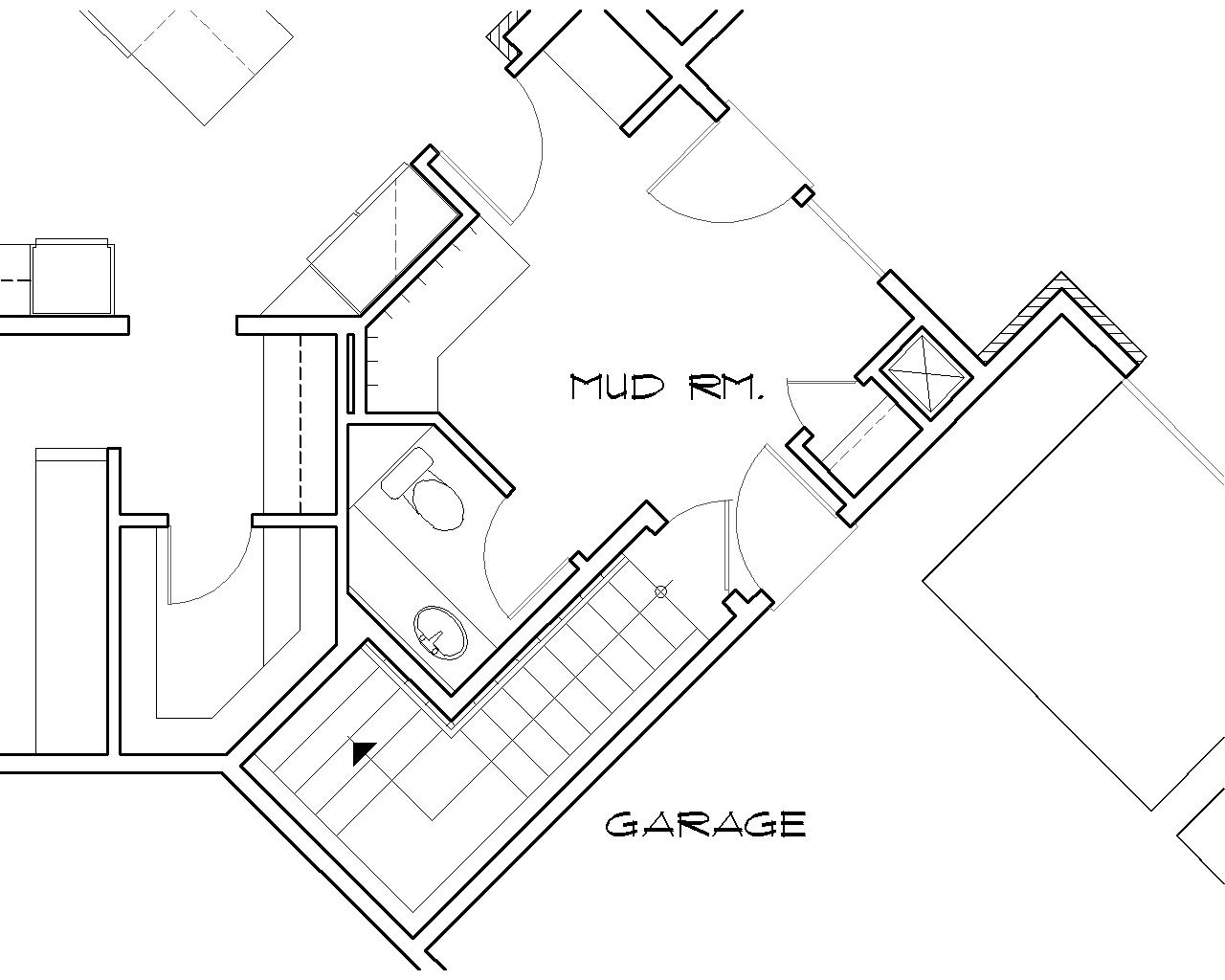 Staircase Plans Drawing Keswick 6774 5 Bedrooms And 5 Baths The House Designers