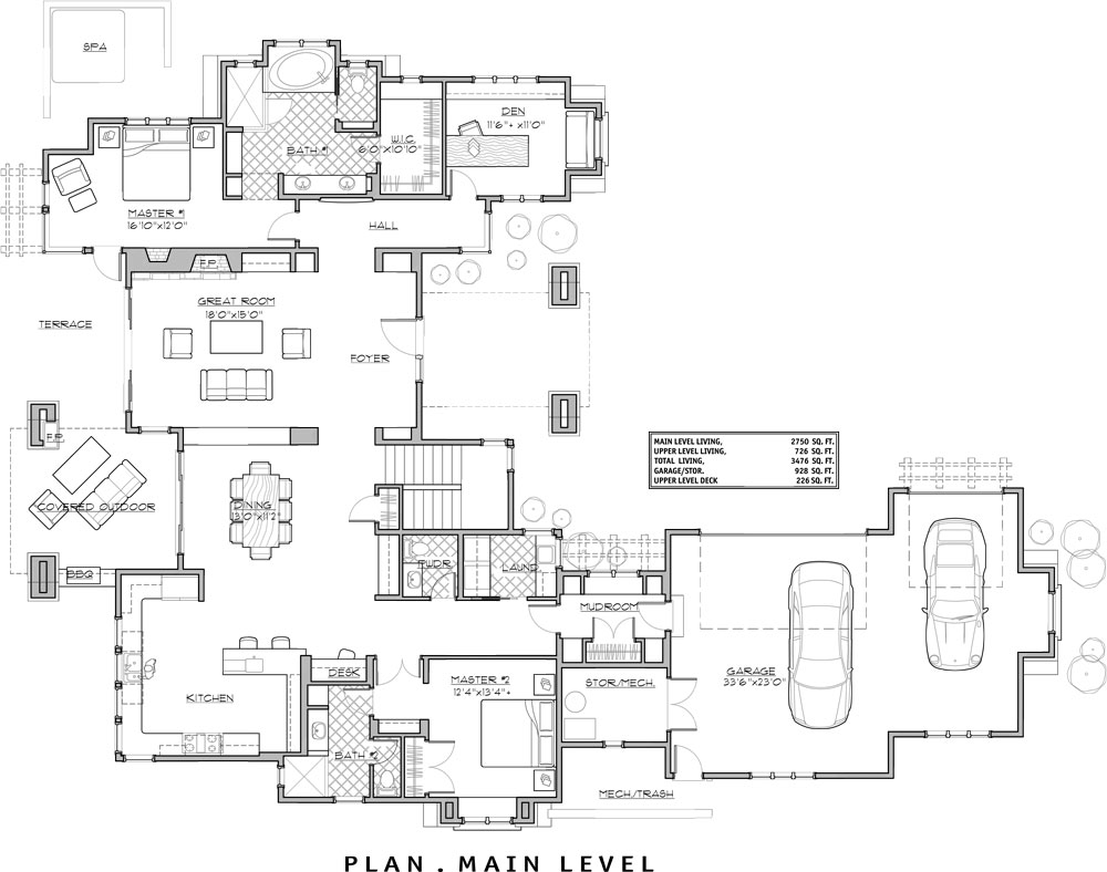 Two Bed Two Bath House Plans Four Bedroom Craftsman House Plan