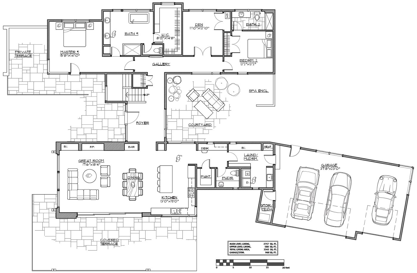 Floor Plan House Modern Two Story House Plan