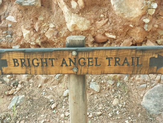 Bright Angel Trail sign Grand Canyon