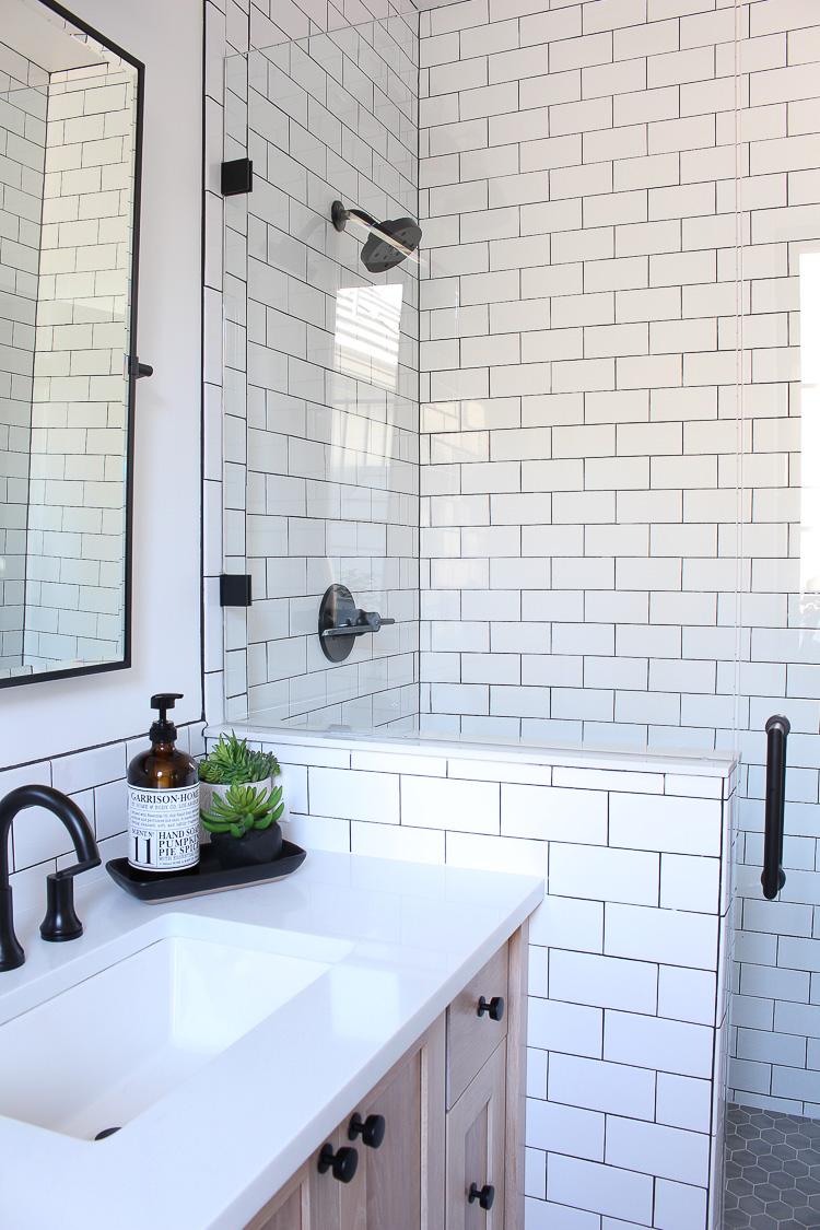 A Classic White Subway Tile Bathroom Designed By Our - Subway Tile