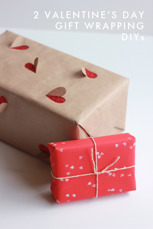 2 Simple Valentine 39 S Day Gift Wrapping Ideas The House