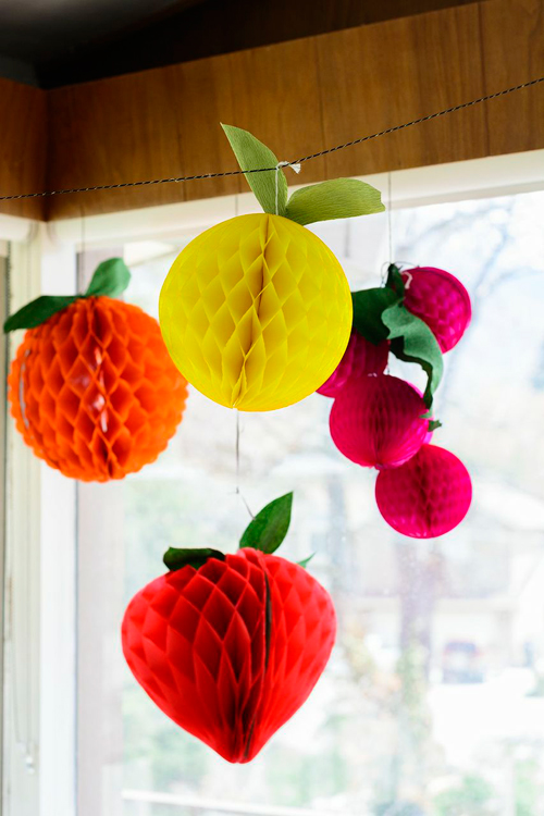 DIY Fruit Tissue Honeycomb Balls - The House That Lars Built