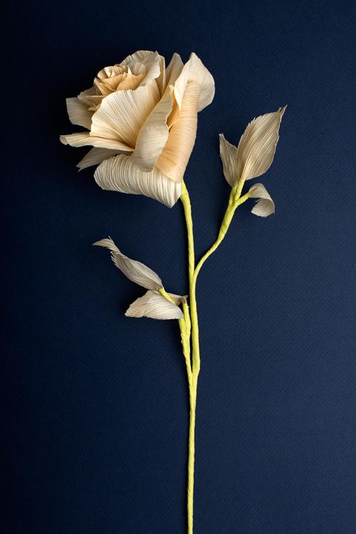 corn husk rose flower