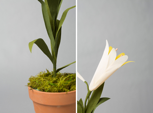 Paper Easter lily tutorial