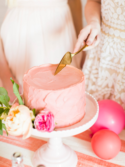 Flamingo Pop. A bridal collaboration with BHLDN and The House That Lars Built. Cakes from Le Loup. Florals by Tinge. Photo by Jessica Peterson.
