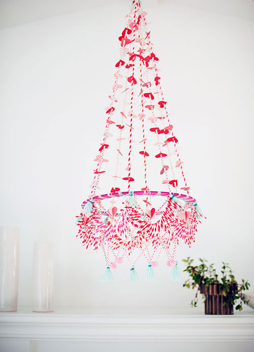 Valentine 39 s day polish chandelier the house that lars built Valentine stage decorations