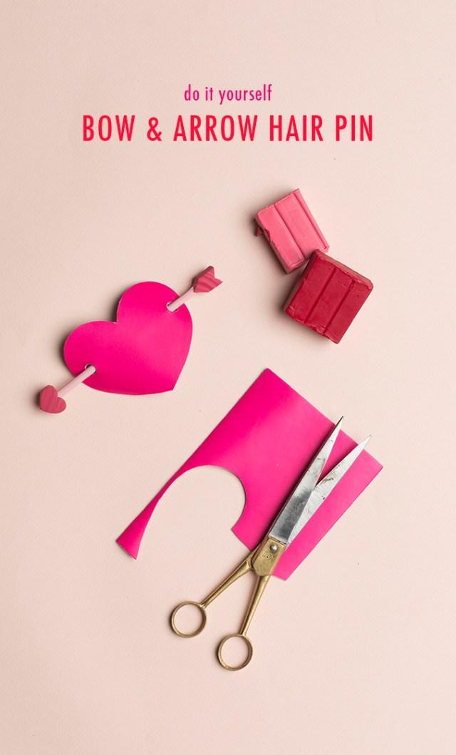 valentine's day hair pin