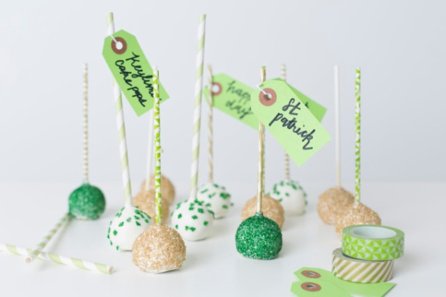 Cake Pops for St. Patrick's Day