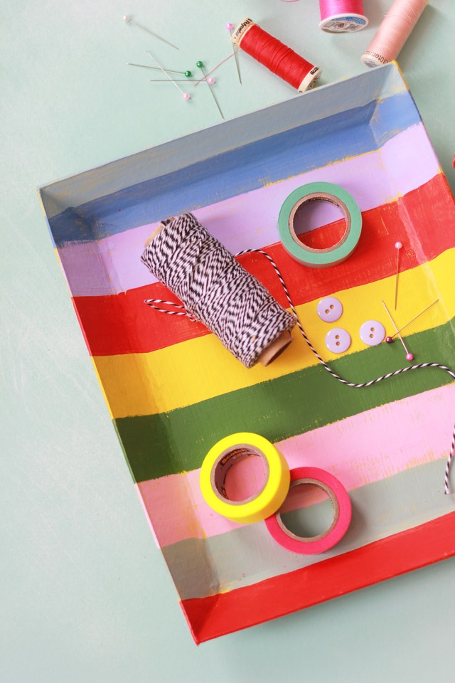 Painted paper trays