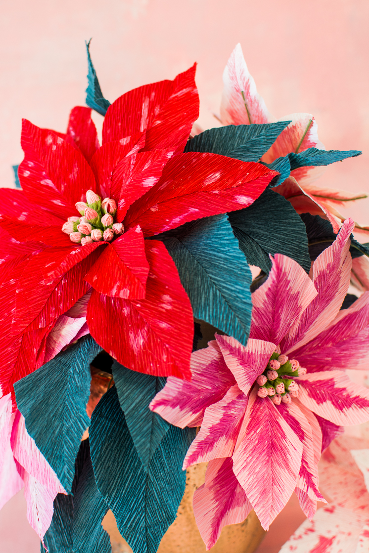 making a paper poinsettia flower