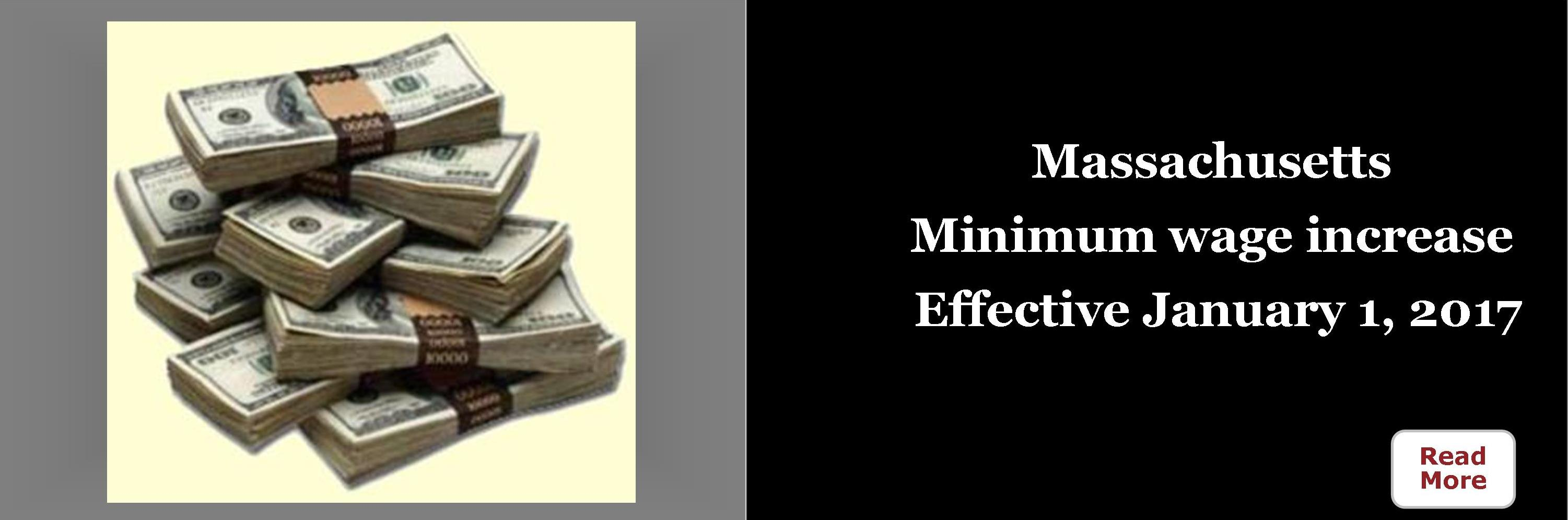 MA Minimum Wage Increase effective 1/1/2017