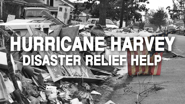 Hurricane Harvey Disaster Relief Help at The HUB Recreation Center
