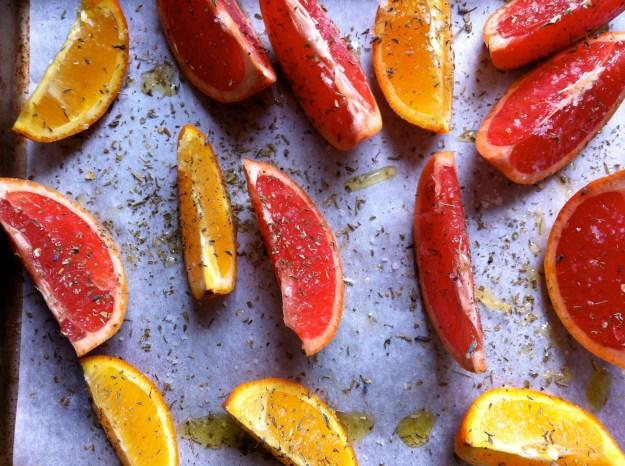 citrus before roasting