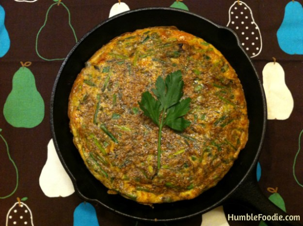 paleo whole30 spring greens frittata
