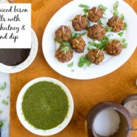 African Spiced Meatballs with Cilantro Chutney and Tamarind Dip