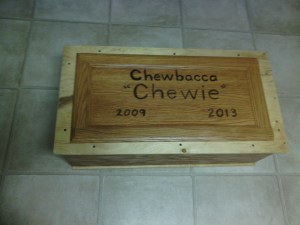 Chewie's coffin