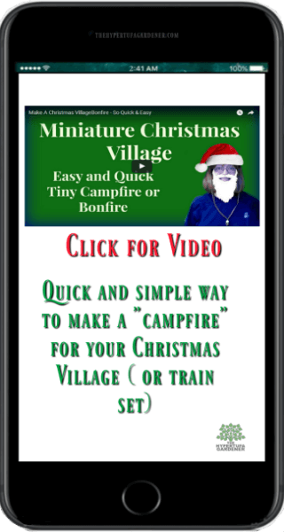 Video for Making Mini-Campfire for Christmas Village