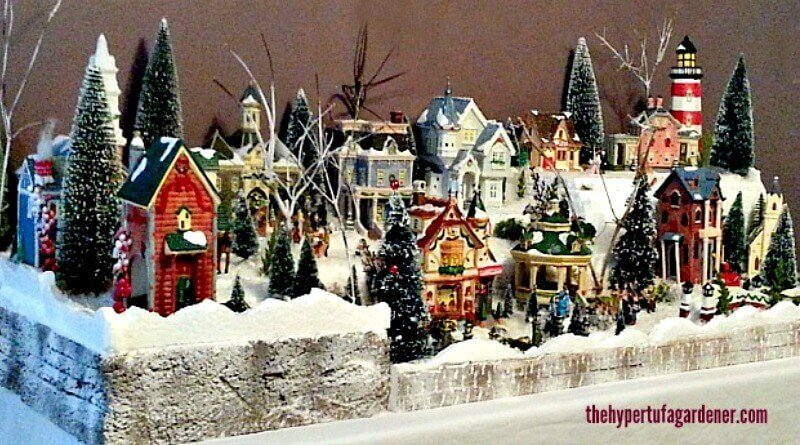 My Miniature Christmas Village Set