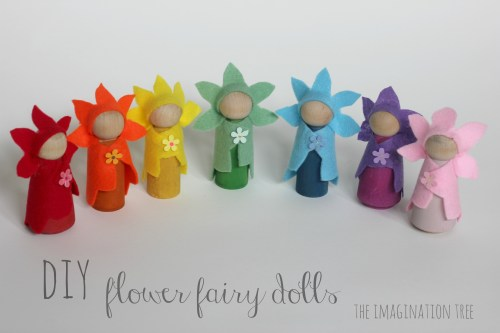 Wooden Peg Dolls Christmas Ornaments Art Projects