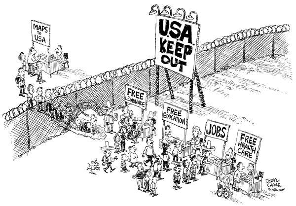 Lawsuit Funding Pre Settlement Loans Lawsuit Cash Border Fence The Immigrants Editorial Cartoons