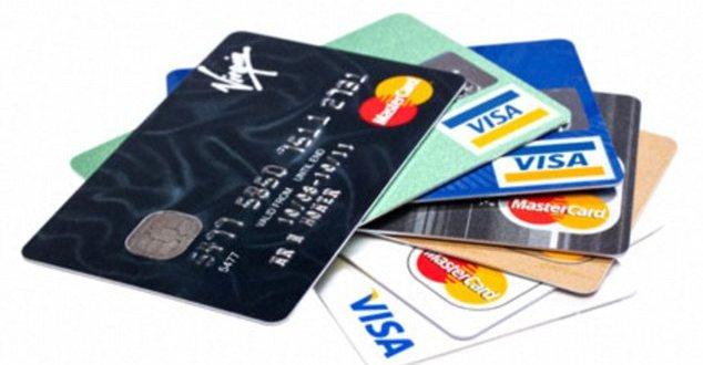 BBPKF6 Credit cards close up