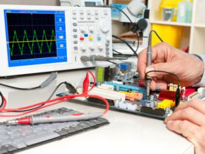 Testing of electronic equipment