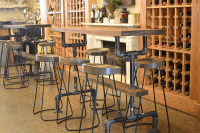 Industrial Farmhouse Bar Height Kitchen Table - The ...