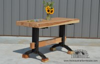 Rustic Minimalist Kitchen Island Table with Pratt Base