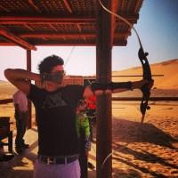 Archery in the Dubai desert
