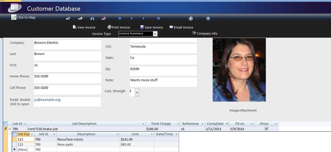 Infosheets Customer Database For Service Businesses Microsoft