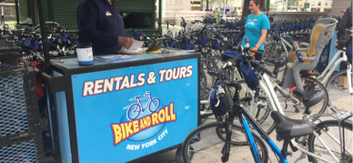 Bike and Roll, the bike rental service in Central Park. Their bikes are restricted in the park.