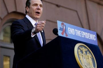 New York Gov. Andrew Cuomo approved the End The Epidemic blueprint in April last year, vowing to eradicate AIDS in New York by 2020. (AP Photo/Seth Wenig)