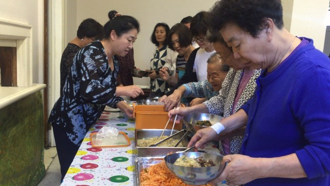 Each person of the Bronx gye, which means a small group in Korean, is responsible for contributing a dish to the weekly potluck.