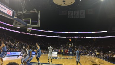 Seton Hall University and Columbia University face off at the Prudential Center in Newark, N.J. (Credit: Patrick Ralph)