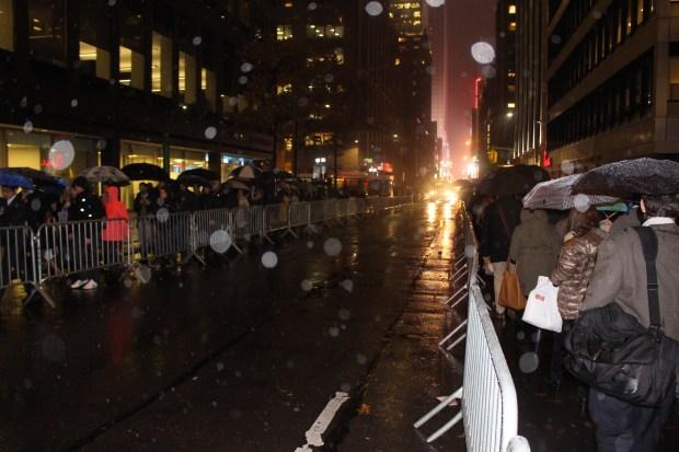 Police barricades on West 46th Street. (The Ink/Nadeem Shad)