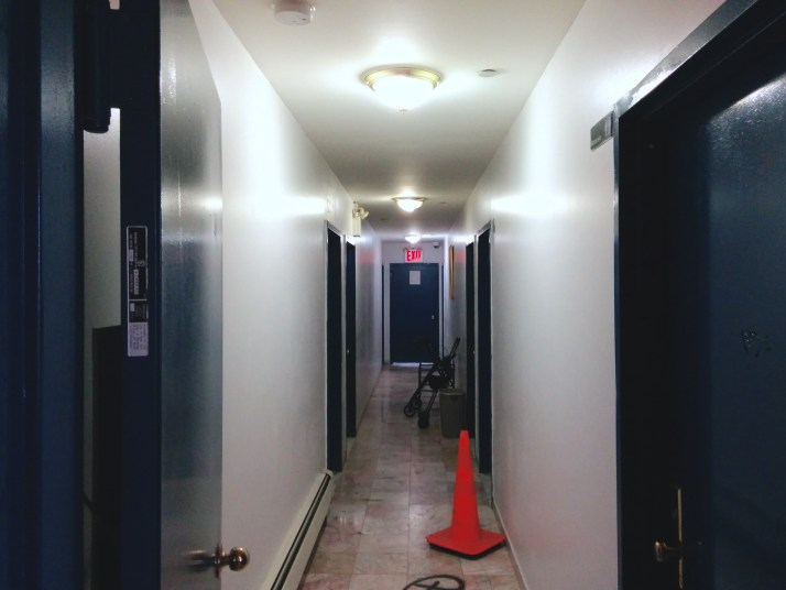 The inside of 150 Beach 115th Street. The murder of Walker was far from the only murder case that happened in this building in recent years, according to residents. (Harry Chang/The Ink)