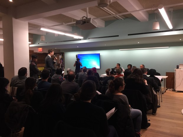 A hearing on the voting experience on Tuesday at 2 Lafayette Street in Lower Manhattan drew a full house. (The Ink/Angel Au-Yeung)