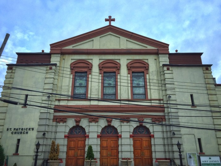 St. Patrick's Roman Catholic Church, located in Dutch Kills, Long Island City, has been around since 1868, but is now seeing a decline amid the neighborhood's recent and rapid growth. (Harry Chang/The Ink)