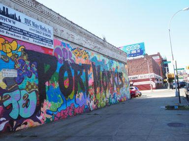 The Port Morris neighborhood features an industrial chic look.