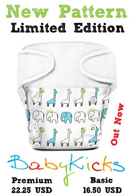 Go Wild Over BabyKicks Baby Safari Print!